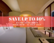Save up to 40% at THE BARAI Suite